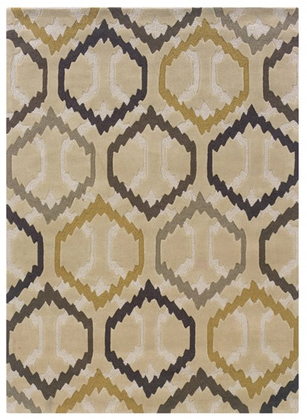 Bombay Modern Ivory Fabric Hand Tufted Comb Rug PWL-200-R57-VAR