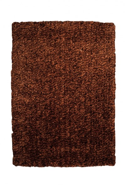 Bombay Collection Polyester Luxe Shag Brown Rug PWL-200-R0067-8