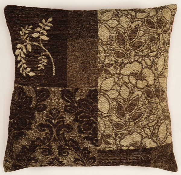 Bombay Collection Polyester Faux Suede Chenille Tapis Brown Pillow PWL-200-R0071-P