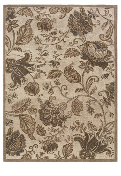 Bombay Collection Polyester Tapis Bouquet Grey Rug (L 66 X W 42) PWL-200-R0075-3