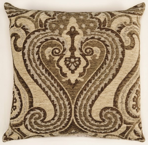 Bombay Collection Polyester Chenille Tapis Camb Lyre Ivory Pillow PWL-200-R0076-P