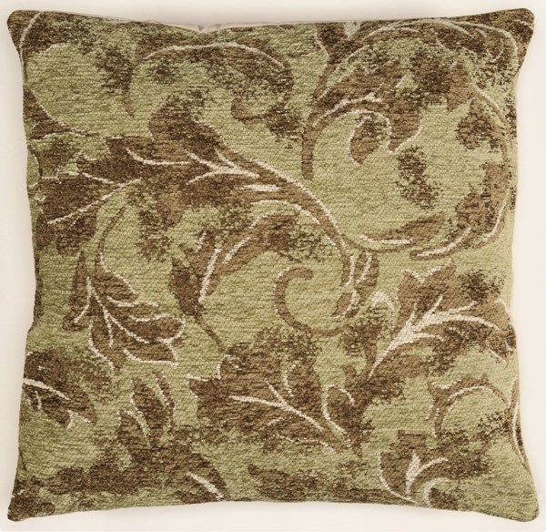 Bombay Collection Polyester Chenille Tapis Leaves Sage Pillow PWL-200-R0077-P