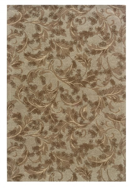 Bombay Collection Polyester Chenille Tapis Leaves Sage Rugs PWL-200-R0077-VAR