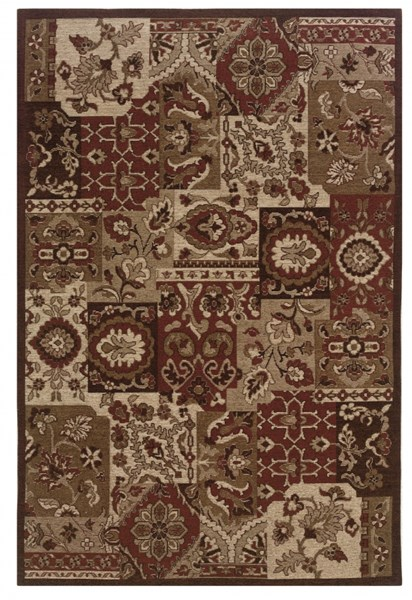 Bombay Collection Classic Red Fabric Polyester Rug (L 96 X W 24) PWL-200-R0078-2