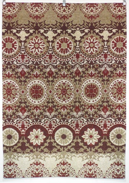 Bombay Collection Polyester Chenille Tapis Taj Rug (L 66 X W 42) PWL-200-R0080-3