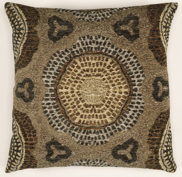 Bombay Collection Classic Polyester Chenille Tapis Lava Grey Pillow PWL-200-R0081-P