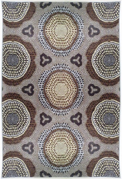 Bombay Collection Polyester Chenille Tapis Lava Grey Rug (L 96 X W 24) PWL-200-R0081-2