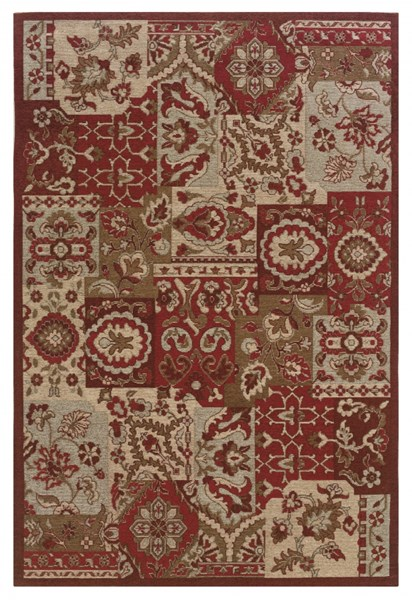 Bombay Collection Classic Red Fabric Polyester Rug (L 84 X W 60) PWL-200-R0082-5