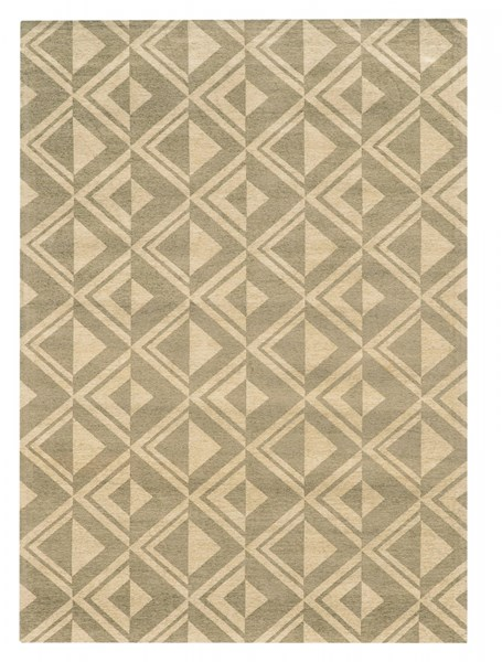 Bombay Collection Polyester Tapis Diamond Grey Rug (L 66 X W 42) PWL-200-R0083-3