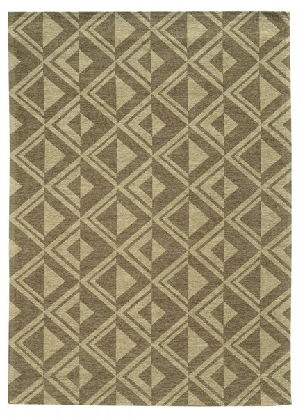 Bombay Collection Polyester Tapis Diamond Beige Rug (L 36 X W 24) PWL-200-R0084-1