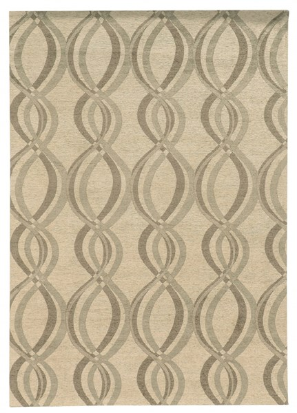 Bombay Collection Polyester Tapis Infinite Ivory Rug (L 96 X W 24 ) PWL-200-R0085-2