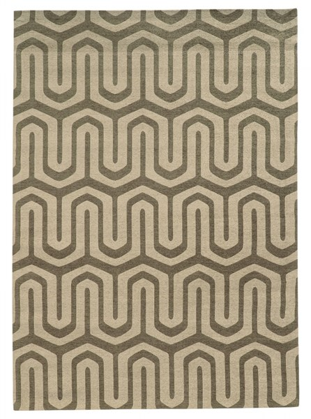 Bombay Collection Polyester Chenille Tapis Maze Grey Rug (L 96 x W 24) PWL-200-R0086-2