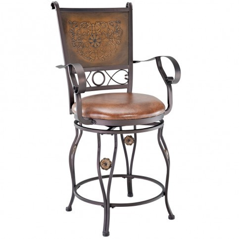 Fabric Metal Bar / Counter Stool With Arms PWL-222-BST-VAR