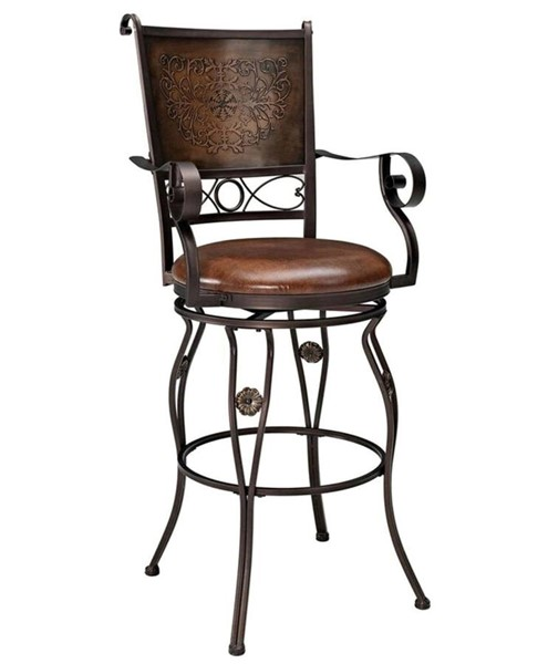 Powell Furniture Big and Tall Bar Stool with Arms PWL-222-432
