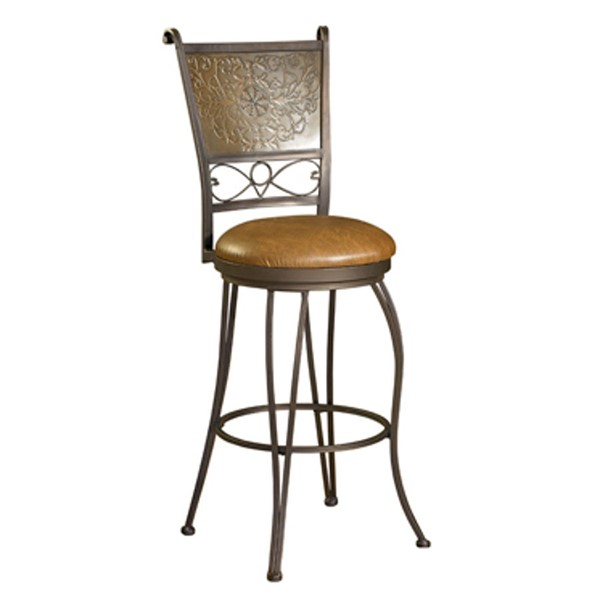 Brown Metal PVC Bronze Muted Copper 24 Inch Seat Height Counter Stool PWL-222-918