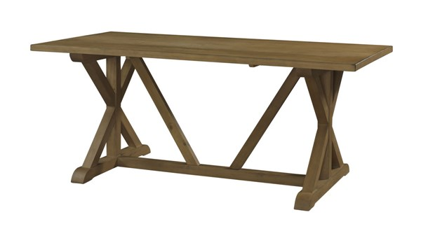 Powell Cafe Collection Rustic Oak Pine Wood Townsend Rectangle Table PWL-232-417