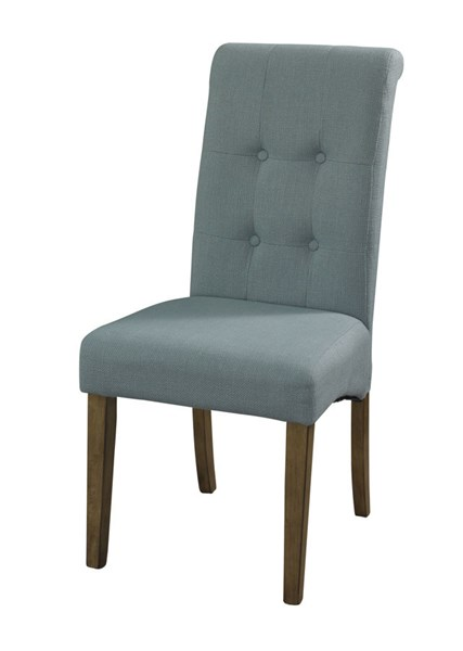 2 Powell Cafe Collection Rustic Blue Pine Wood Townsend Person Chairs PWL-232-440X
