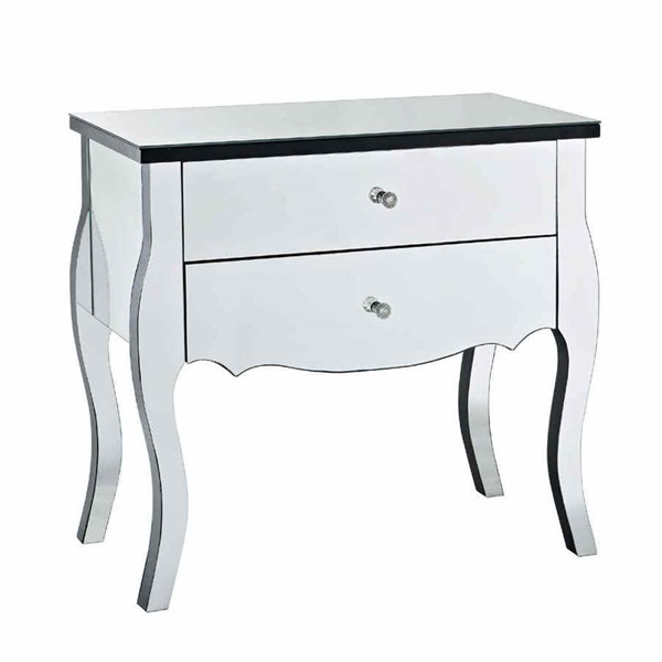 Solid Wood MDF Mirrored Two Drawers Console PWL-233-515