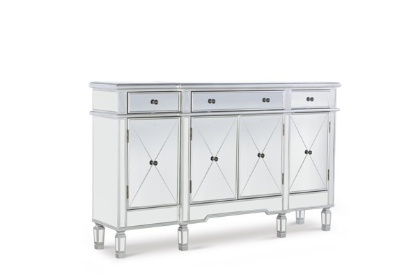 Powell Furniture 3 Drawers Mirrored Console PWL-233-695
