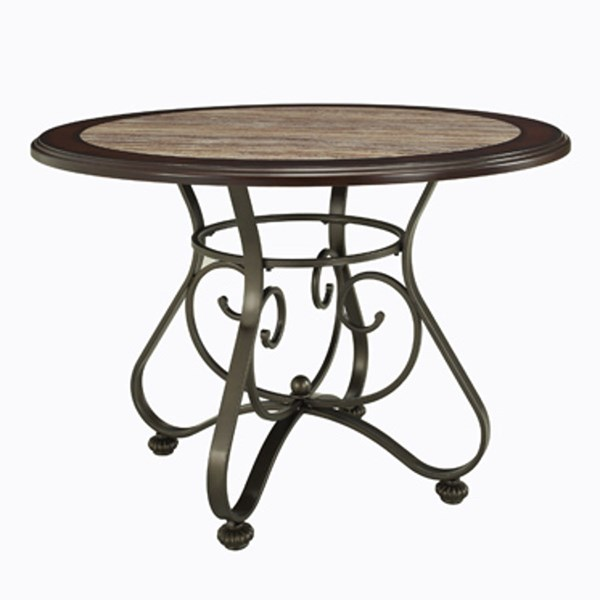Whitman Wood Metal Dining Table w/Faux Marble Top PWL-236-413