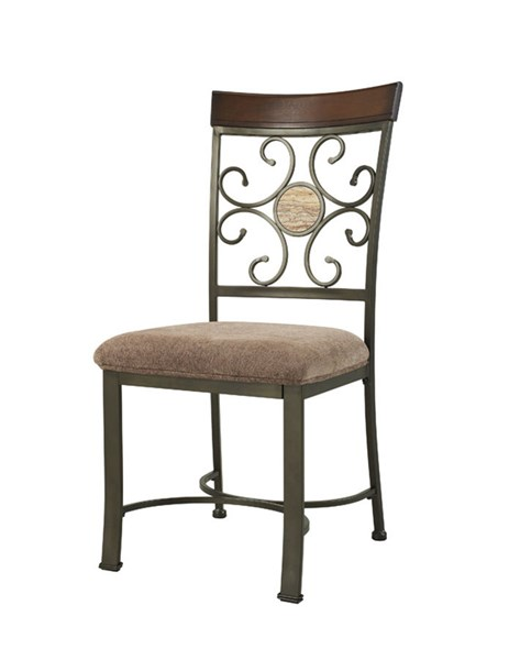 2 Powell Cafe Bronze Fabric Metal MDF Whitman Dining Side Chairs PWL-236-434X