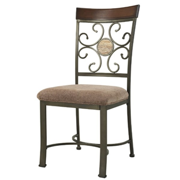 2 Whitman Fabric Metal Wood Dining Side Chairs W/18 Inches Seat Height PWL-236-434