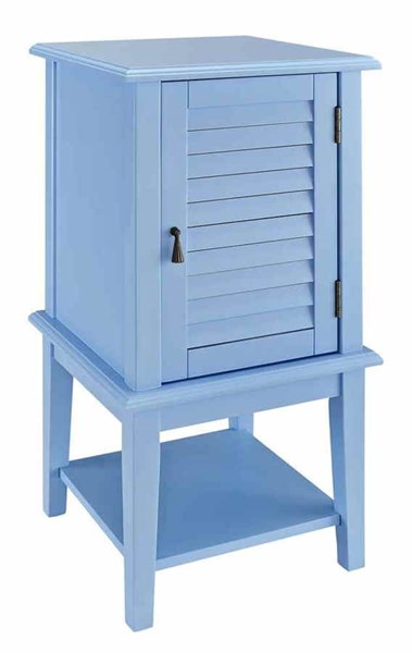 Ocean Blue MDF Solid Wood Shutter Door Square Table PWL-254-351