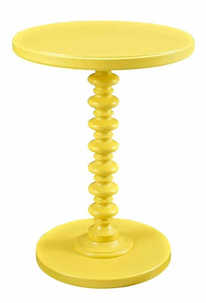 Powell Furniture Muted Yellow Round Spindle Table PWL-256-269