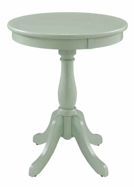 Contemporary Aqua MDF Solid Wood Round Accent Table PWL-268-352