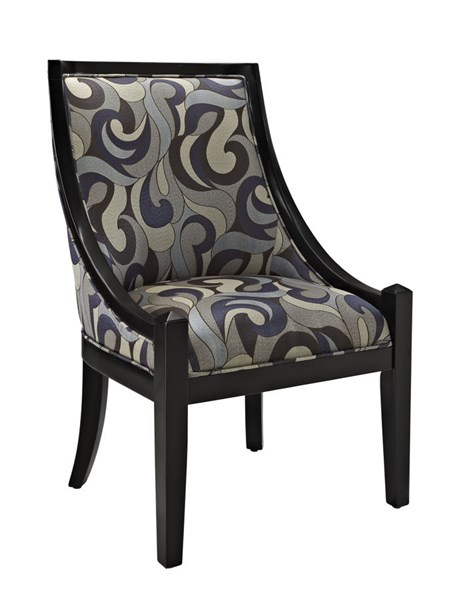 Upholstered Black Polyester Armless High Back Accent Chair PWL-271-965