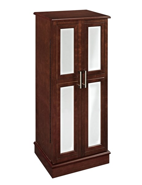 Modern Cherry MDF Jewelry Armoire w/2 Doors PWL-279-523