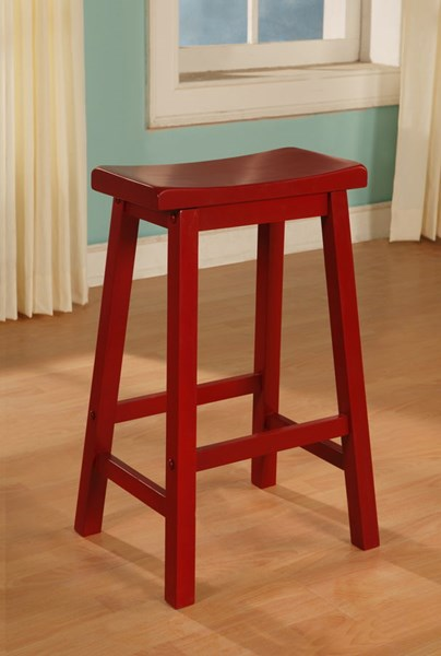 Powell Furniture Color Story Crimson Red Saddle Bar Stool PWL-286-431