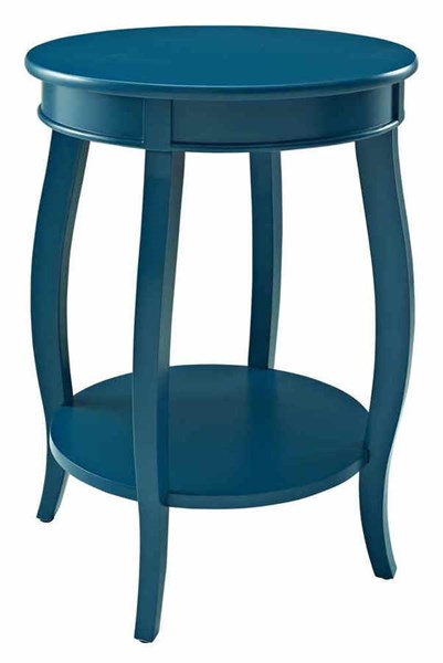 Powell Furniture Teal Round Table with Shelf PWL-287-350