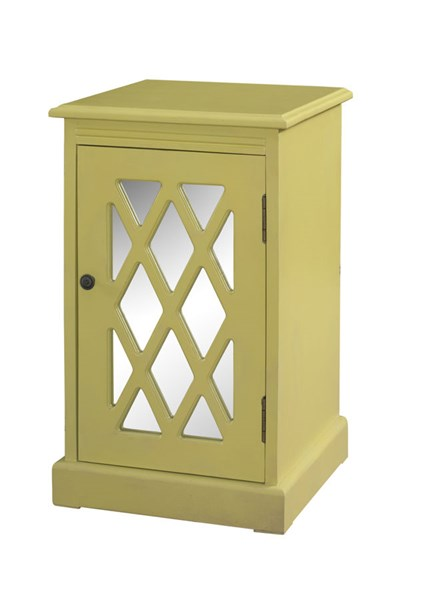 Accent MDF Honey Butter Mirror Chippendale Table PWL-327-351