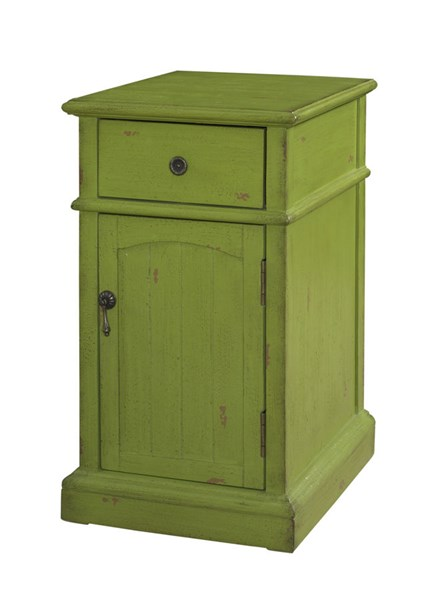Accent Green MDF Rectangle Chairside Cabinet PWL-333-219