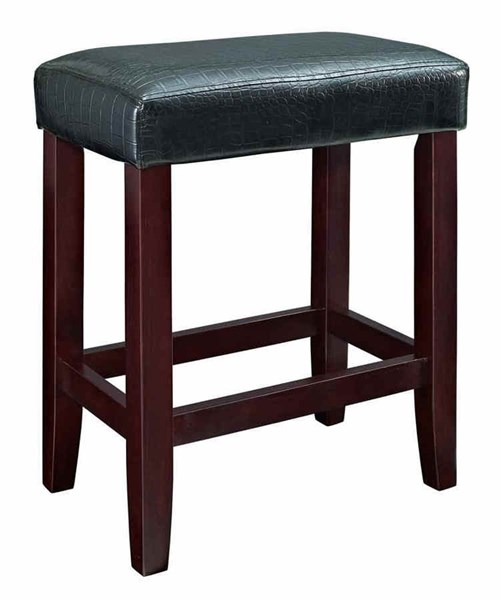 Faux Leather PU Wood Counter Stools w/Foot Rest PWL-358-631-CST-VAR