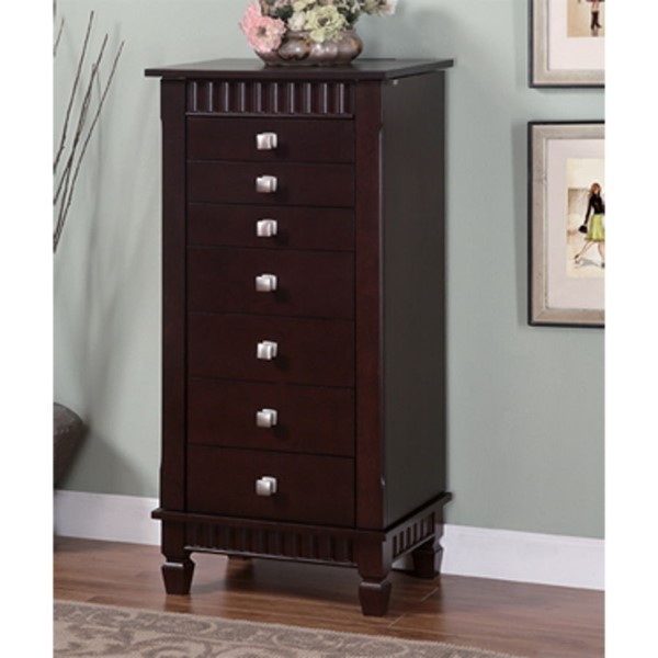 Powell Furniture Contemporary Merlot Jewelry Armoire PWL-383-316