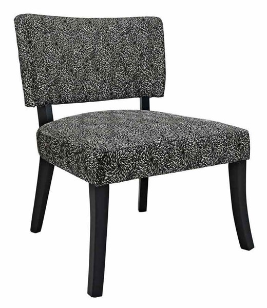 Classic Seating Plywood Polyester Fabric Black Firework Armless Chair PWL-383-594