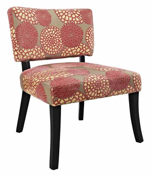 Classic Seating Plywood Polyester Fabric Pink Flower Armless Chair PWL-383-623