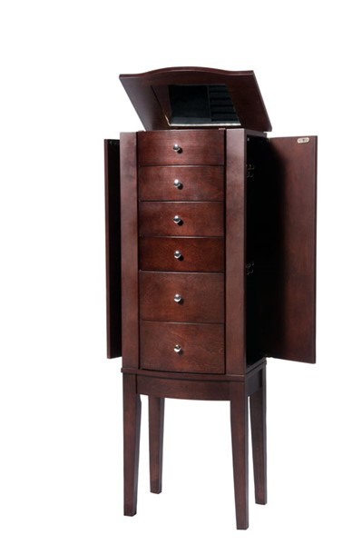 Powell Furniture Contemporary Merlot MDF Jewelry Armoire PWL-398-315