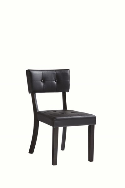 2 Powell Cafe Rubberwood Prism Brown Faux Leather Side Chairs PWL-398-495X