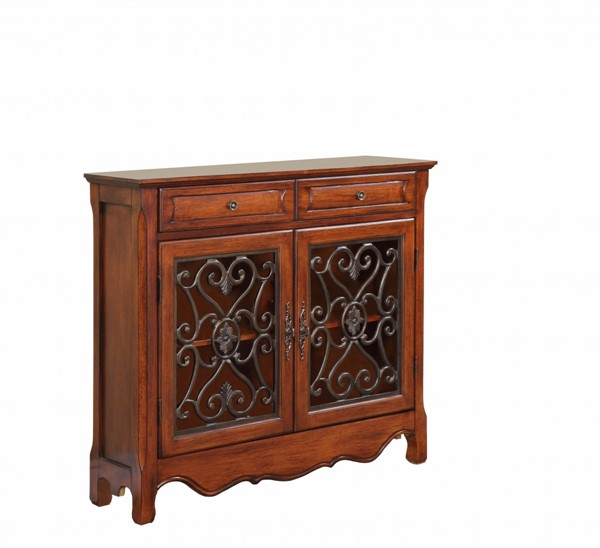Light Cherry MDF Brown Lining Solid Wood Slide Rail Console PWL-411-254