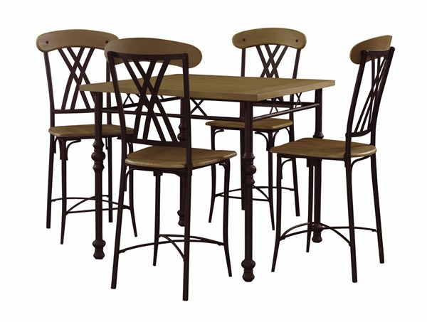 Cowell Collection Black Gathering Dining Set Base PWL-416-4882
