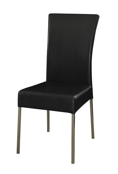 2 Powell Cafe Metal Foam Cameo Black Dining Chairs PWL-433-495X