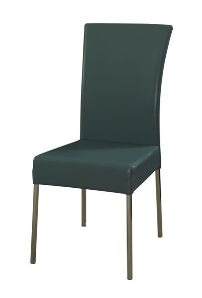 2 Cameo Contemporary Teal Faux Leather Metal Dining Chairs PWL-433-496X
