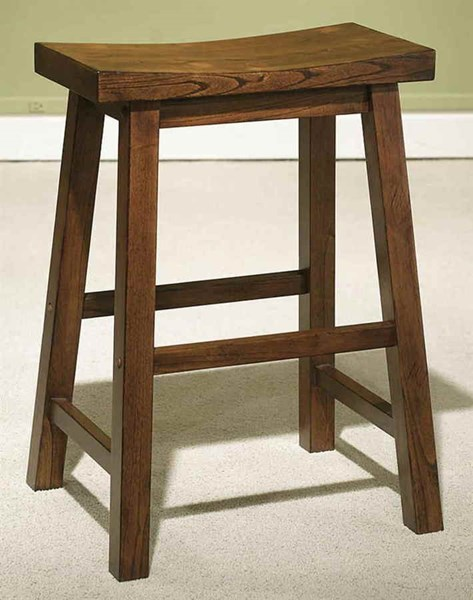 Classic Honey Brown Mindy Wood 24 Inch Seat Height Counter Stool PWL-455-430