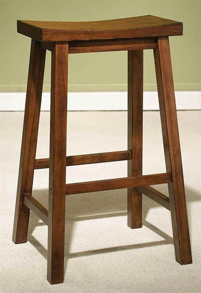 Classic Distressed Honey Brown 29 Inch Seat Height Bar Stool PWL-455-431