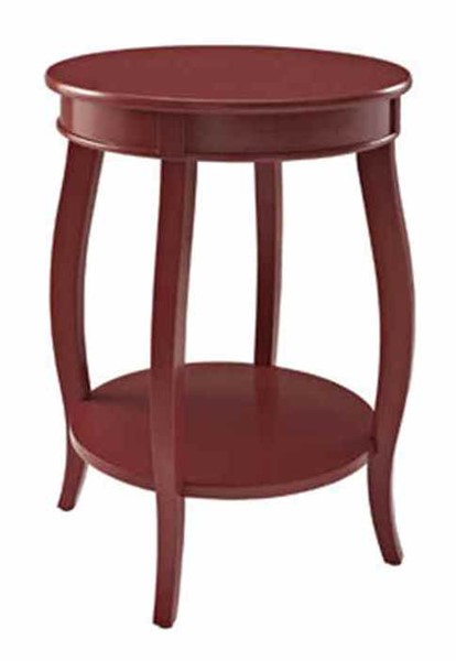 Powell Furniture Red Round Table with Shelf PWL-471-350