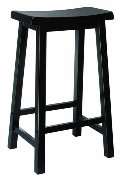 Classic Antique Black Rubberwood 29 Inch Seat Height Bar Stool PWL-502-431