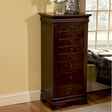 Powell Furniture Louis Philippe MDF Jewelry Armoire PWL-508-315